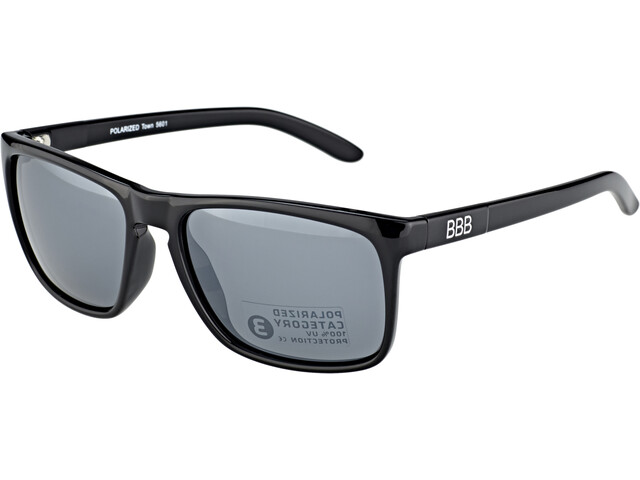 BBB Town PZ PC BSG-56 Cykelglasögon glossy black/mirror